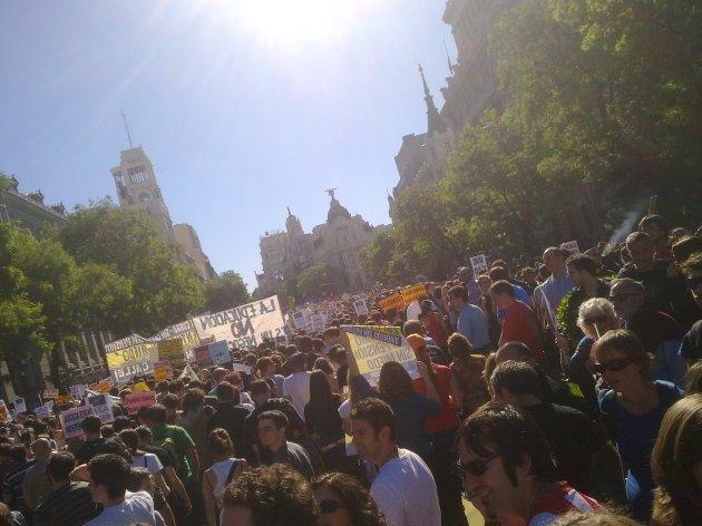 Democracia Real Ya por las calles de Madrid